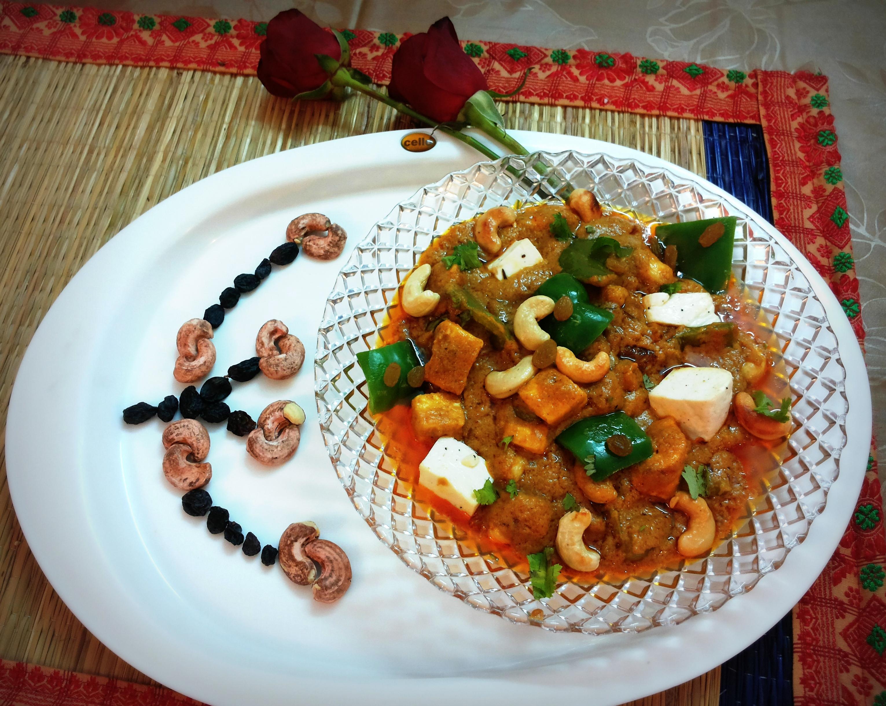 Shahi (Royal) paneer (cottage cheese/fresh cheese) masala