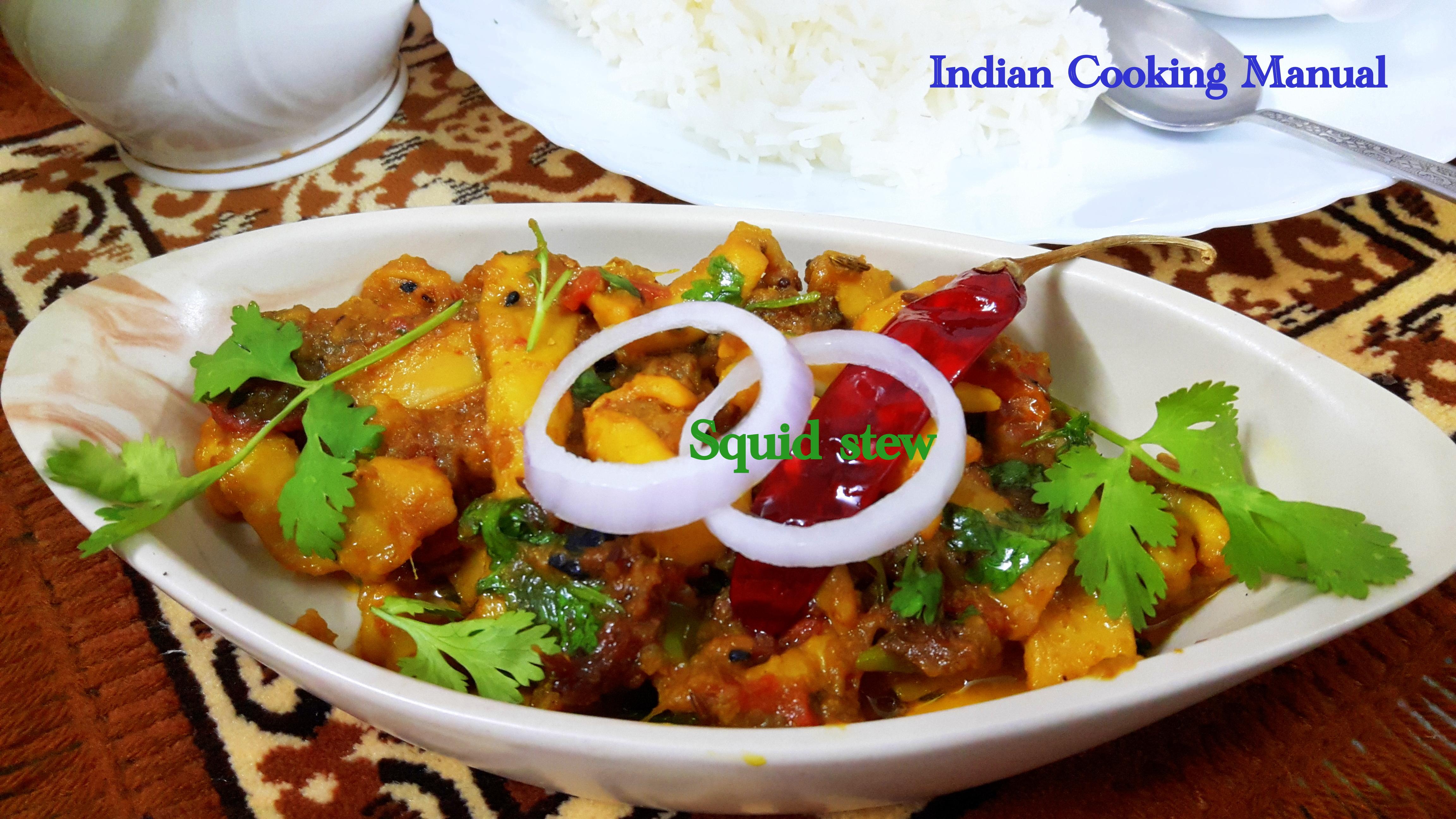 Squid (kanava fish) stew