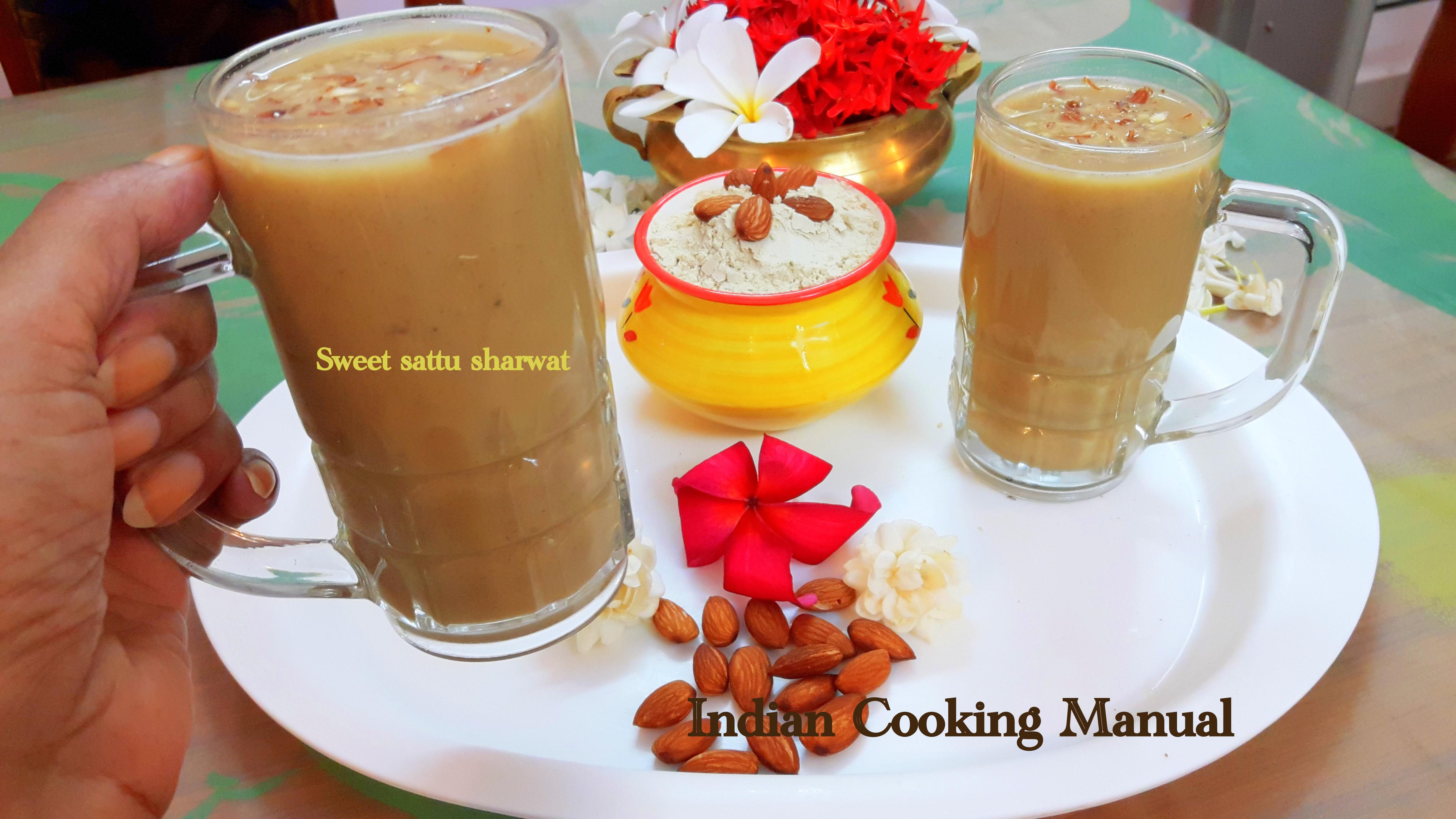 Sweet sattu sharbat (sweet protein drink)