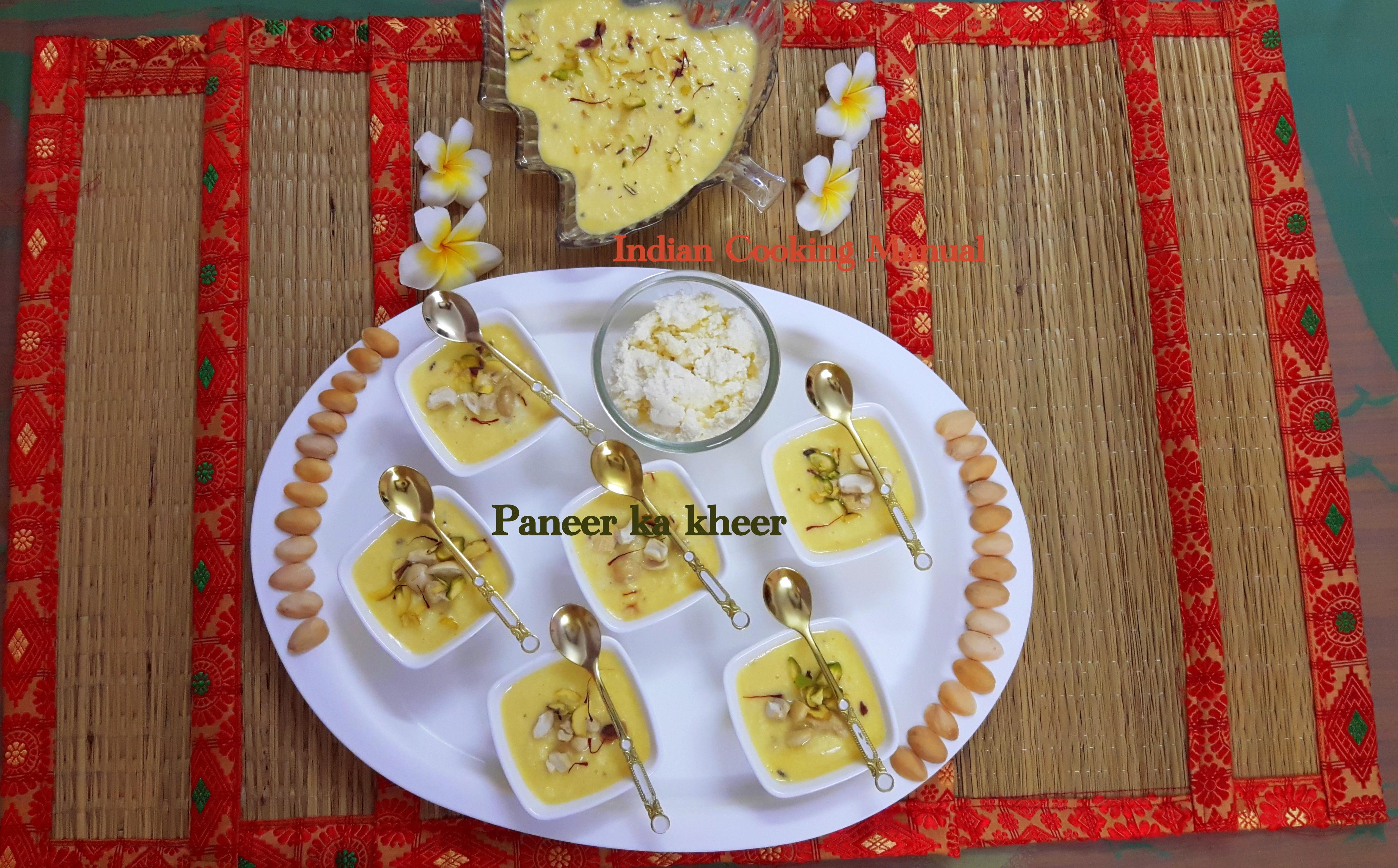 Paneer (cottage cheese) ka kheer
