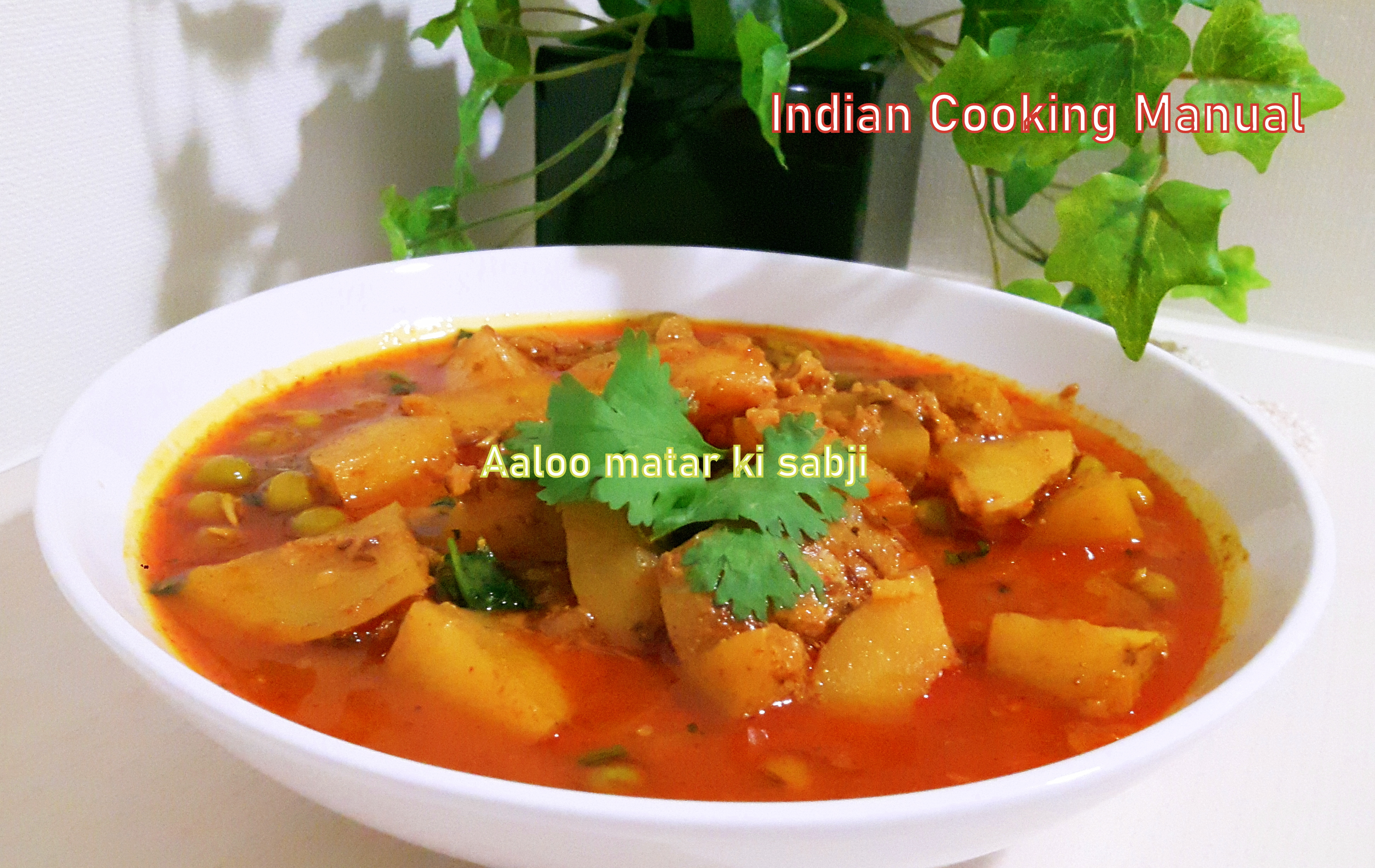 Potato and pea curry /Aaloo matar (mutter) curry