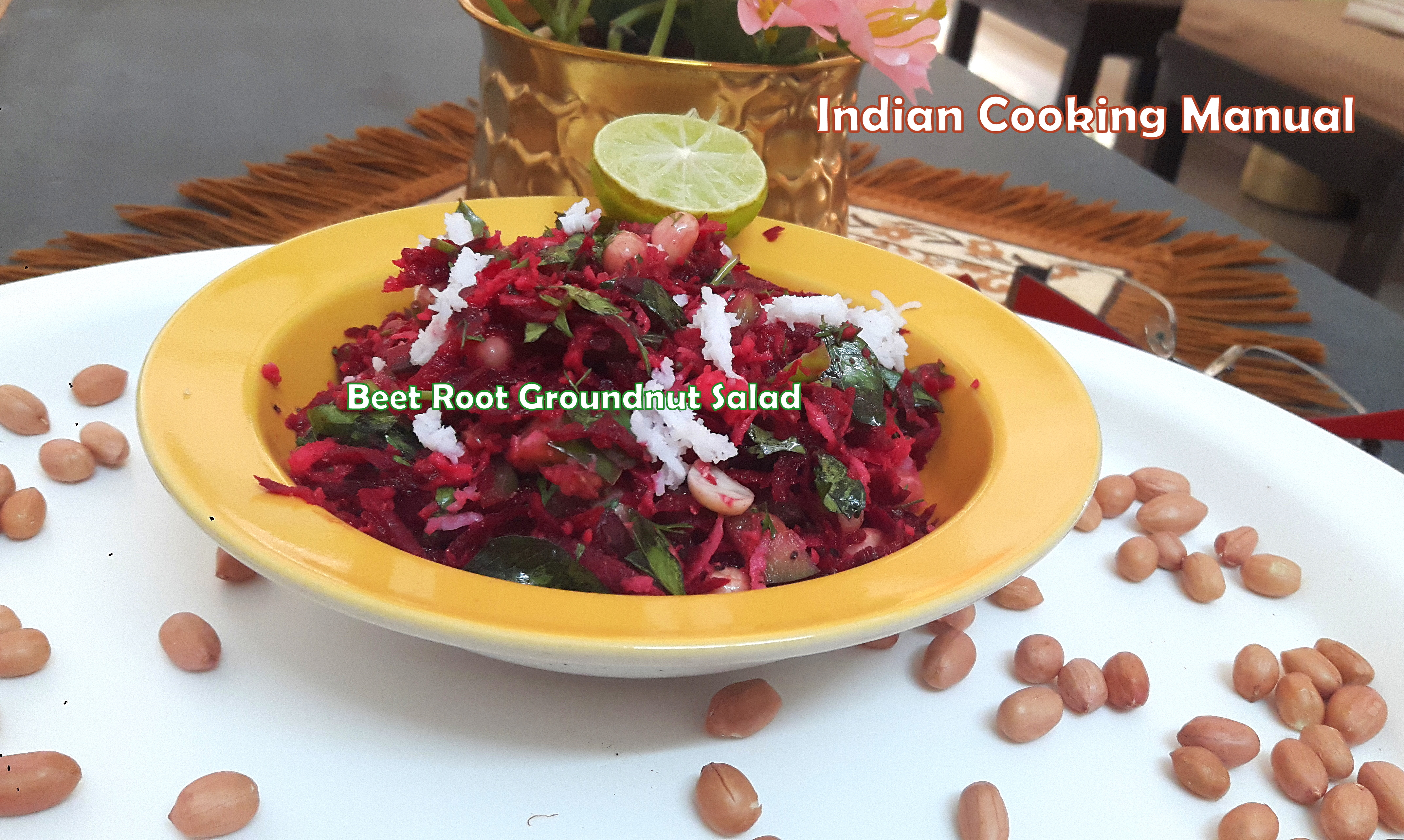 Beet Root Groundnut Salad