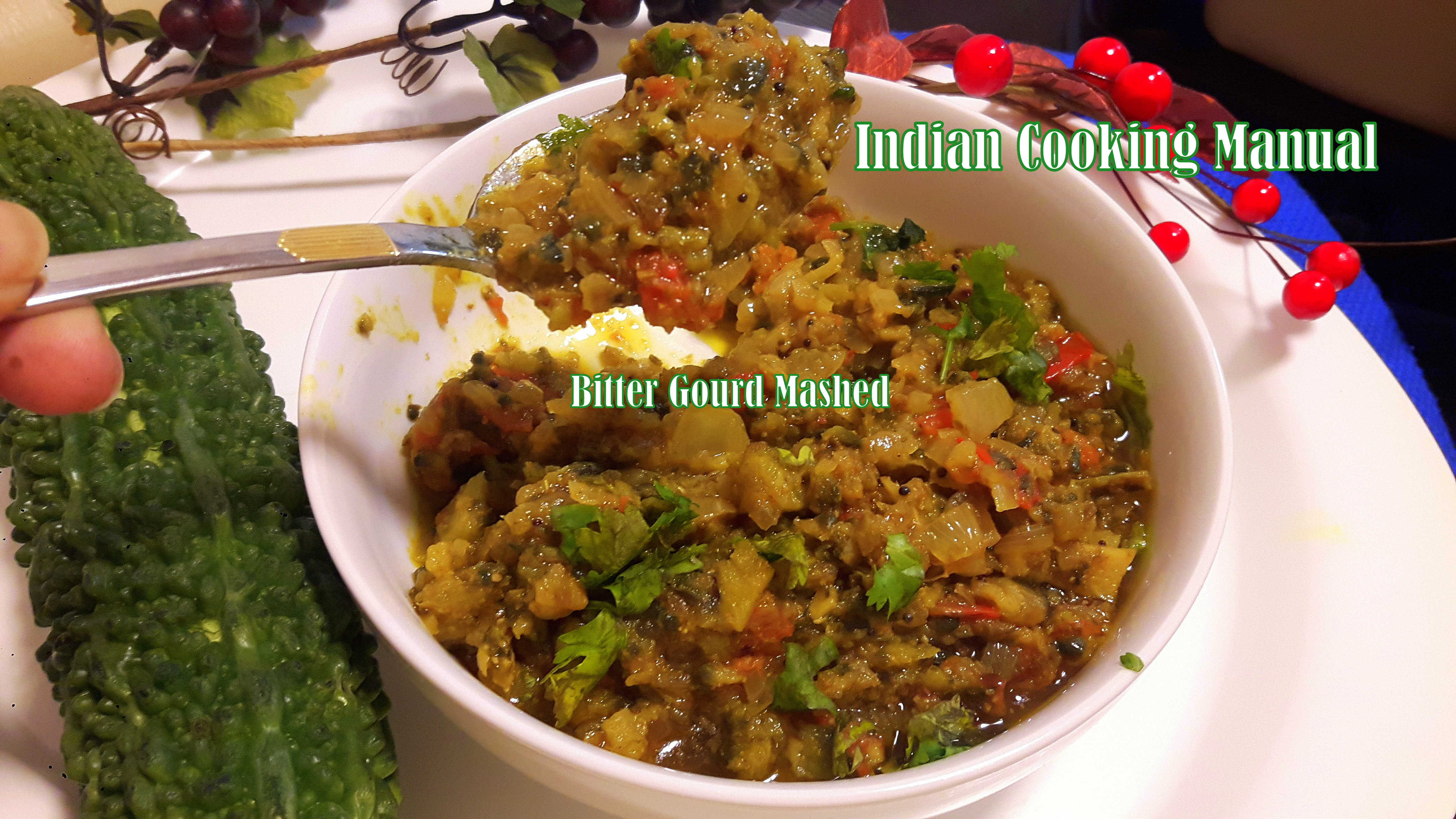 Bitter gourd Mashed (Karela Bharta)