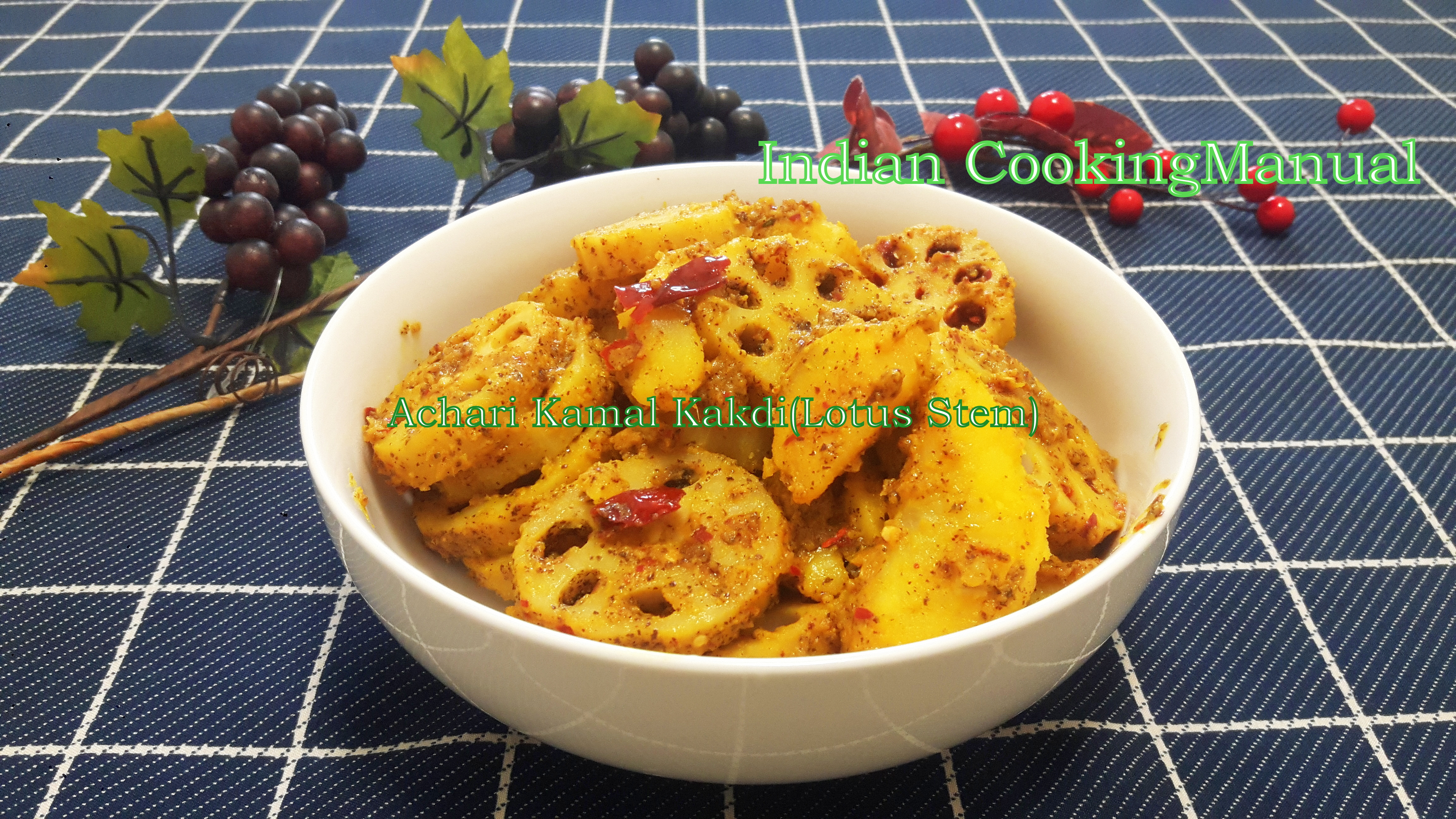 Achari Kamal kakdi/kakari (lotus stem)