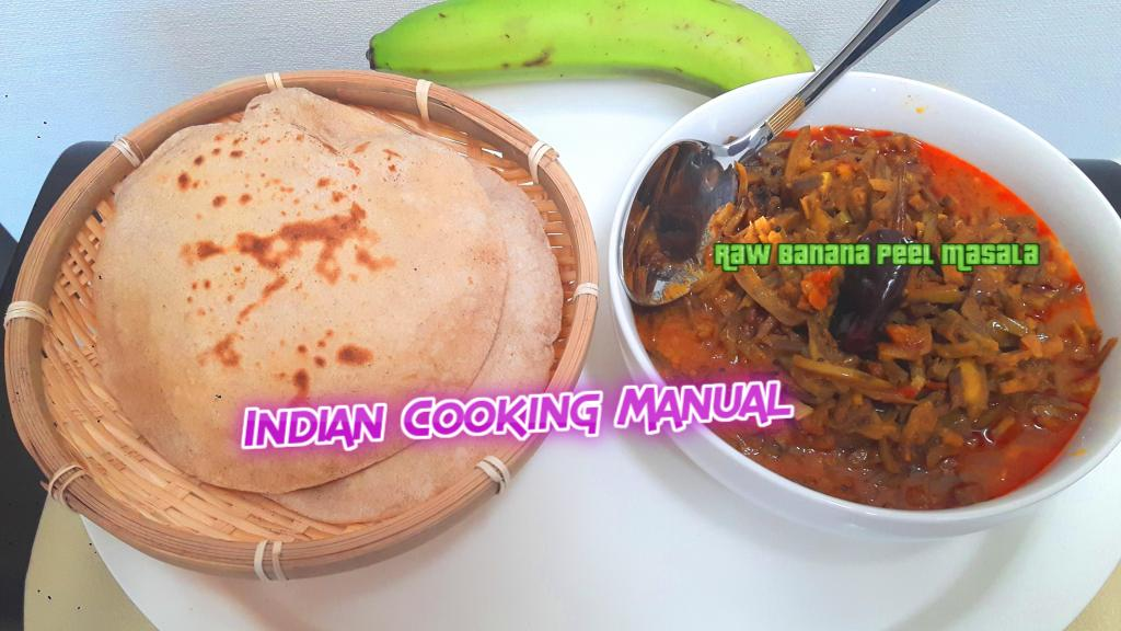 Raw Banana Peel Masala (Kachche Kele ke Chhilke ki Sabji)