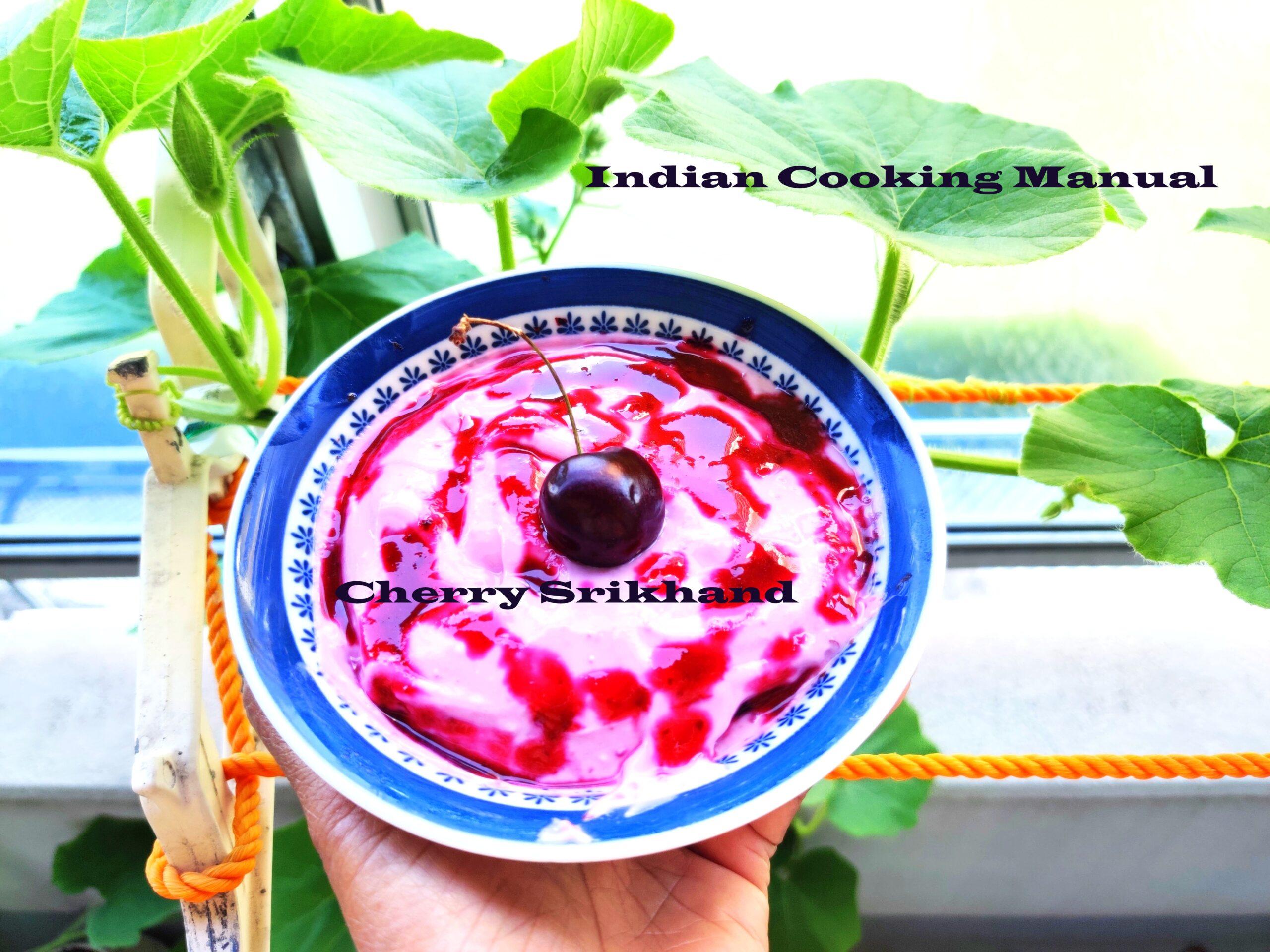Cherry Srikhand