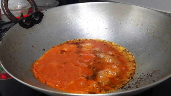 stir fry on medium low flame