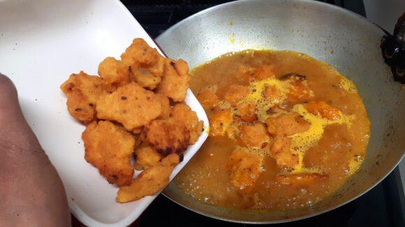 add fried kofta
