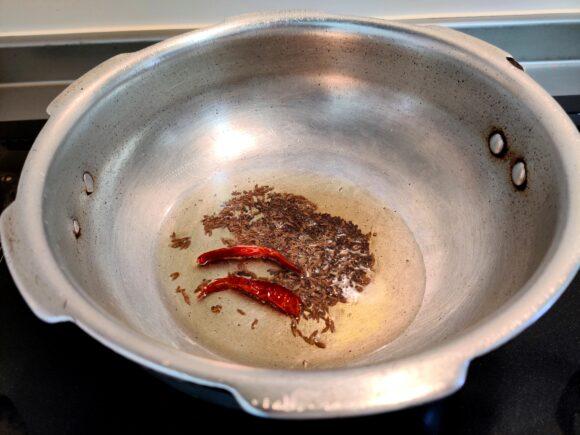 add cumin and mustard seed